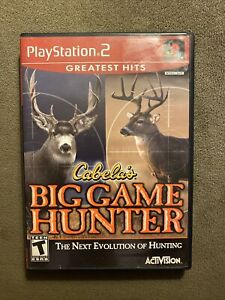 Cabela-039-s-Big-Game-Hunter-Greatest-Hits-Playstation-2-PS2-Complete-W-Manual