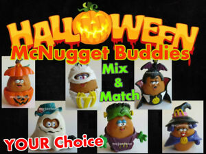 LOOSE-McDonald-039-s-1993-McNUGGET-BUDDIES-Halloween-NUGGET-Buddy-YOUR-TOY-CHOICE