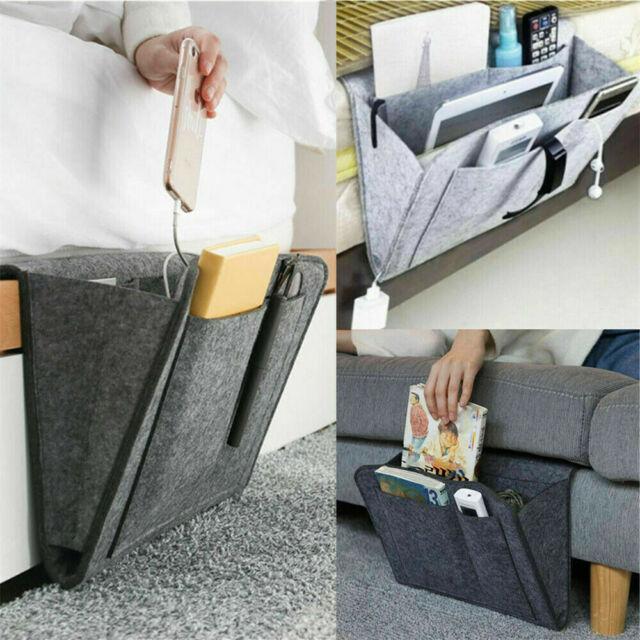 Hanging Sofa Bedside Storage Organizer Bag Caddy Pocket Bed Phone Book Holder