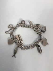 Details About James Avery Sterling Silver 925 10 Charms Cup Shoe Ball Heart D Letter Bracelet