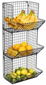 3-Tier-Fruit-Stand-Wall-Mount-Kitchen-Storage-Multipurpose-Foldable-Organizer
