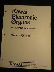 Details about Kawai Electronic Organ K E-235 Schematic Diagram Manual on