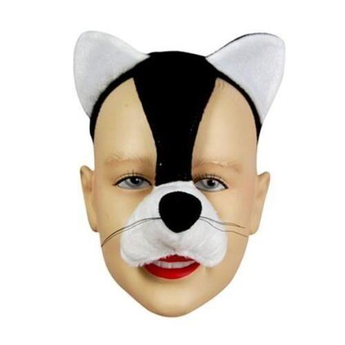 Maschera VISO GATTO GATTINO ANIMALI Libro Settimana Costume EFFETTO SONORO FX P1596