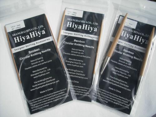 "40/"" Bamboo Circular Knitting Needles HiyaHiya 4.5mm x 100cm"