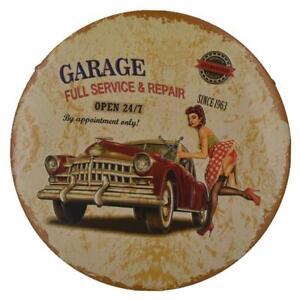 Old Car Classic Rusted Metal Tin Sign Wall Hanging Decor Garage Pub Bar #1