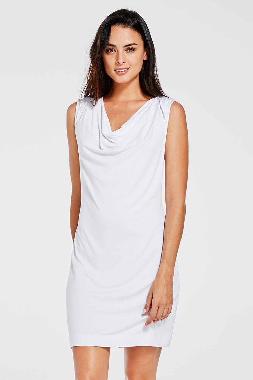 Fabletics Ivana Cover-Up Kleid Weiß Größe L   NH190 EE 07