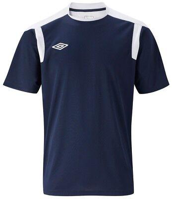 NEW Mens XL Umbro Evo Training Top T Shirt RED NAVY Football Gym Running BLUE