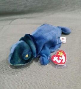 Ty Beanie Baby Rainbow The Blue Chameleon Fabric Mixed Up W Iggy 8421040377 Ebay