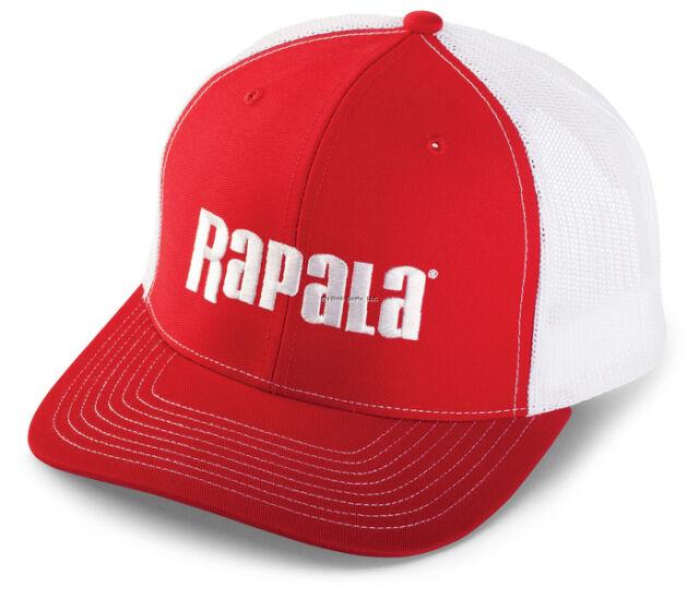 444edf949 Rapala RTC100 Trucker Cap Red/white Mesh Center Logo