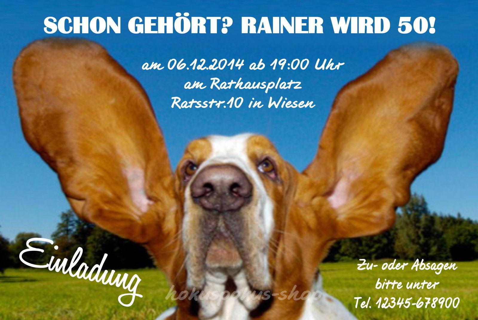 50 lustige tierische Einladungskarten Geburtstag Einladungen Hund Hund Hund jedes Alter 0ad5be