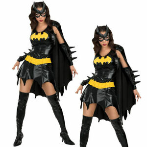 Deluxe-Batgirl-Costume-Batwoman-Fancy-Dress-Licensed-Outfit-Halloween-Batman