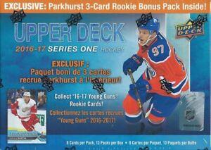 2016-17-Upper-Deck-Series-1-Hockey-EXCLUSIVE-Factory-Sealed-12-Pack-Blaster-Box