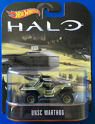 NEW 2017 Hot Wheels Retro Entertainment HALO UNSC M12 WARTHOG LRV mint on card!