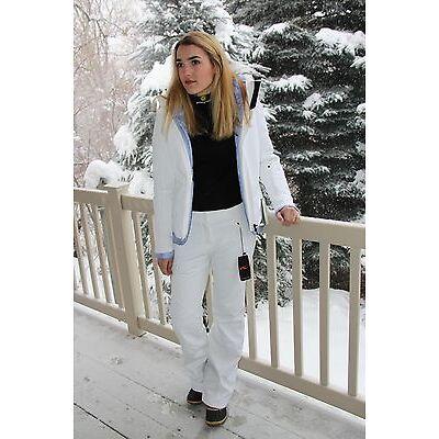 KJUS Tree Ring 3-in-1 Ski Jacket Women's Size 40 US 10 - White/Peyto Blue - NEW