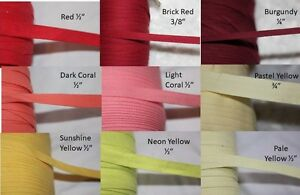 10-yards-Herringbone-Cotton-Twill-Tape-Craft-Sewing-1-4-034-3-8-034-1-2-034-wide-precut
