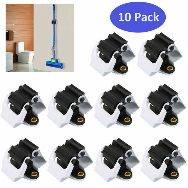 Zxcv Broom Holder Wall Mount Powerful Non-Marking Mop Clip Free Perforation Mop Hook Fixed Buckle Storage Rack Color : Blue