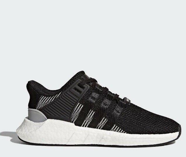 NEW ADIDAS ORIGINAL MENS SZ 11 EQT SUPPORT 93 17 BOOST BLACK WHITE SHOE BY9509