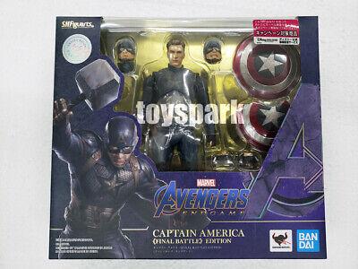 US SELLER S.H.Figuarts Avengers Endgame Captain America Final Battle IN HAND!