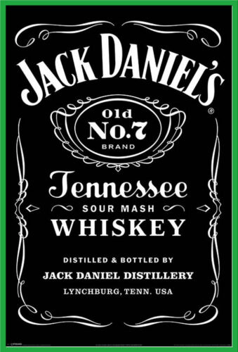 Whiskey Poster Plakat Druck Jack Daniels Größe 61x91,5 cm Black Label