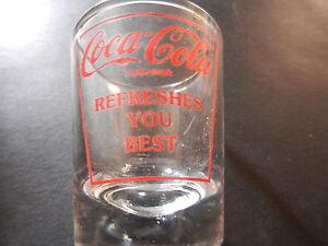 "COCA-COLA  /""ALWAYS COCA-COLA NEW GETTYSBURG/"" SHOT GLASS"