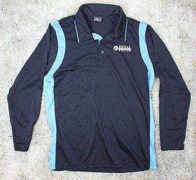 Regal Entertainment Group Movie Theater Employee Long Sleeve Polo Usher Shirt L Ebay