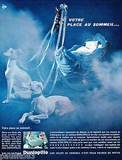 PUBLICITE ADVERTISING 065  1967  DUNLOPILLO   matelas