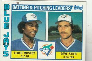 FREE-SHIPPING-MINT-1984-Topps-606-Dave-Stieb-Lloyd-Moseby-Blue-Jays-Leaders