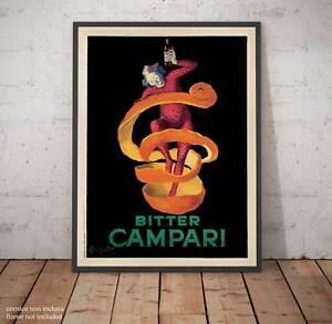 a806025d7d Bitter Campari Cappiello Poster Fine Art Quadro Stampa su Pannello ...
