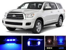 Blue Vanity / Sun visor  LED light Bulbs for Toyota Sequoia (4 pieces)