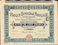 Banque Syndicale Francaise (h)
