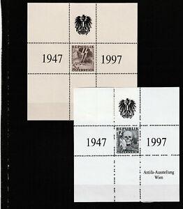Osterreich-Antifa-2-Gedenkbloecke-1A-Qualitaet-mit-Aufdruck