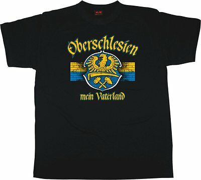 Altdeutsch mit Schlesien Wappen BRESLAU T-Shirt Schwarz wroclaw silesia