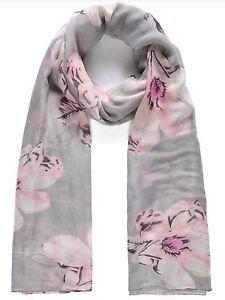 Ladies Pink Floral Print Scarf
