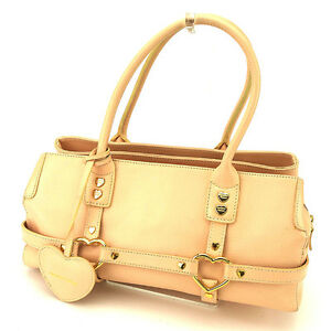 Samantha-Thavasa-Tote-bag-Pink-Gold-Woman-Authentic-Used-A1349