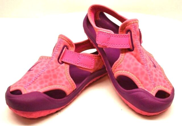 6754fd469e1d83 Girls Size 10 Toddler Nike Sandals Pink Water Shoes Sunray Protect 344993