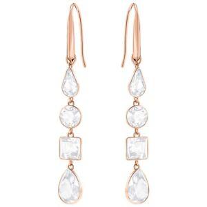 374e1e161993 Image is loading NWT-SWAROVSKI-Lisanne-Pierced-Earrings-White-Crystal-Rose-