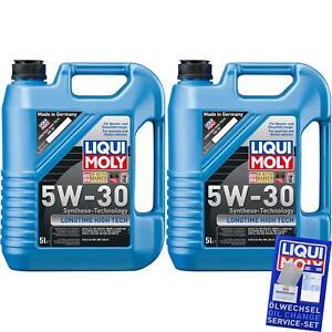 2x5-litros-original-liqui-Moly-longtime-High-Tech-5w-30-Engine-oil-aceite-aceite-del-motor