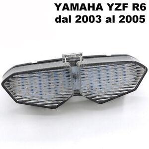 Faro-LED-fanale-posteriore-stop-indicatori-direzionali-frecce-moto-Yamaha-YZF-R6