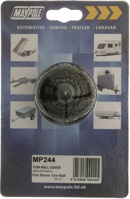 Maypole Black Plastic Protective Tow Ball Cover: Trailers & Towing: Tow Bars