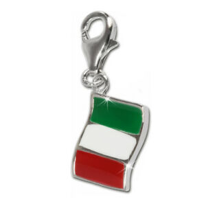 Details zu SilberDream 925 Charm Flagge Italien Armband Anhänger FC705