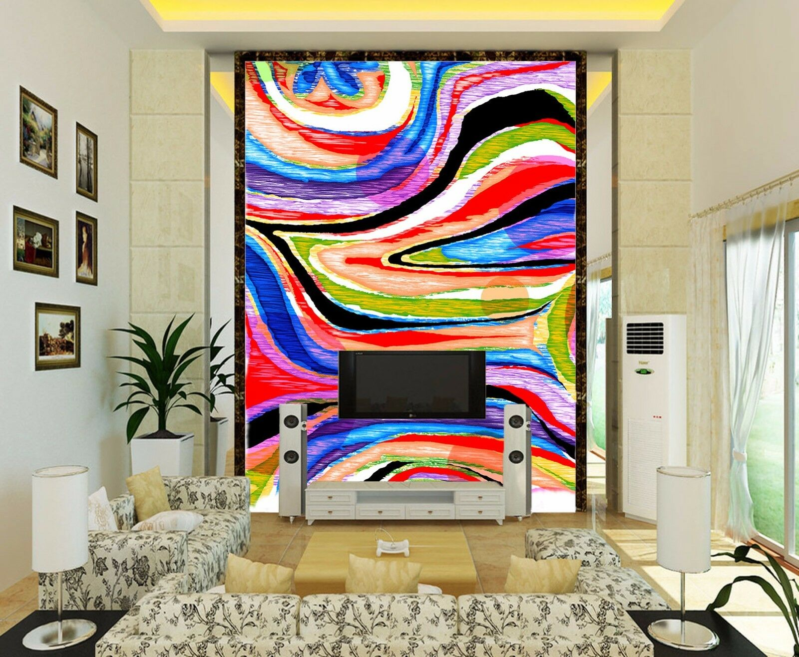 3D Aquarell Aquarell Aquarell Gekritzel 8 Tapete Wandgemälde Tapete Tapeten Bild Familie DE Summer | Günstige Preise  |  091572