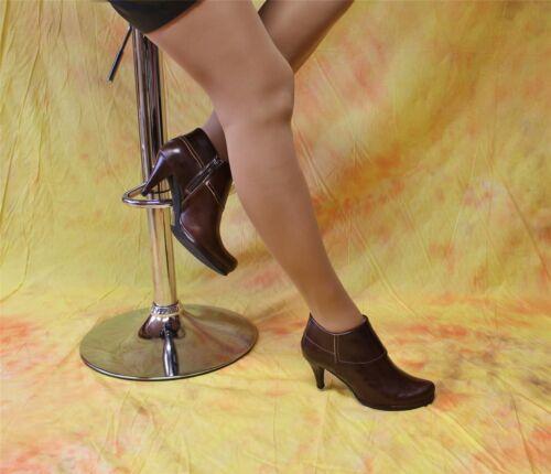 Moccabraune Bottines Boots Bottines de chèvre-Nappaleder