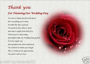 Image Is Loading Thank You Wedding Planner Laminated Gift