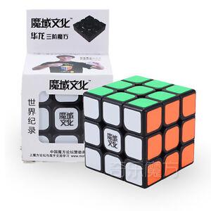 New Moyu Hualong Black 3x3 magic cube Hua Long 3x3x3 Speed cube (weilong v4) Toy