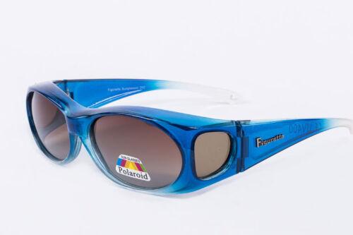 Figuretta gafas de sol sobre gafas azul tv publicidad protección UV gafas protección solar