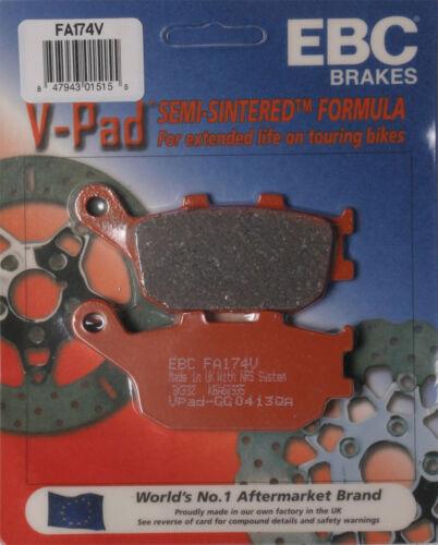 EBC Brake Pads for V-Series Fits 2008 Yamaha Fzs 1000 Fz1 Disc Brake Pad Set Fa
