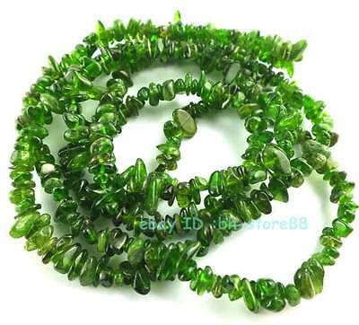 A Natural Diopside 4-6mm Baroque Chips Loose Beads 36''