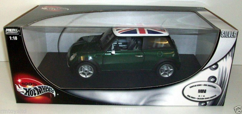 heiß WHEELS 1 18 - 57309 MINI COOPER - Grün W  UNION JACK ROOF