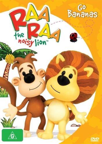 1 of 1 - Raa Raa The Noisy Lion - Go Bananas (DVD, Kids) New/Sealed!