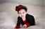 Buffalo plaid baby headband Newborn Girls Toddler Christmas red black Hair Bows